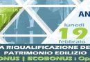 """Convegno """"La Riqualificazione del Patrimonio Edilizio. SISMABONUS – ECOBONUS: Opportunità"""" – Cava dè Tirreni, 19 febbraio 2018"""