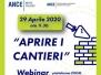 Covid: Procedure Amministrative  per riavviare i cantieri - Webinar 29 aprile 2020