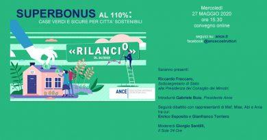 """Evento Ance: """"Superbonus al 110%: case verdi e sicure per città sostenibili"""""""