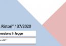 "Conversione in legge del D.L. 137/2020 – cd. ""D.L. Ristori"" – Misure fiscali d'interesse"