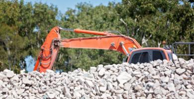 Il peso dei rifiuti speciali dell'edilizia