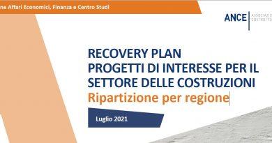 RECOVERY PLAN: progetti di interesse per il Settore e Ripartizione tra Regioni – Dossier Ance