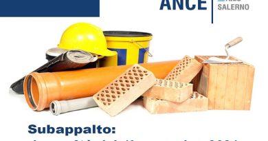 Nuova disciplina sul subappalto, Ance Salerno: commento Parere ANAC del 12 ottobre 2021